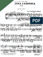 Sonatina Canonica - Castelnuovo Tedesco