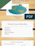 Newton canon ball presenation on matlab