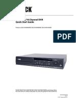 Black 4,8,16 channel DVR Quick Start Guide