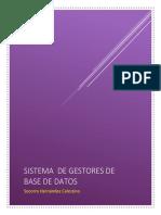 Sistemas de Gestión de Base de Datos