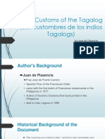 Early Customs of the Tagalog Las Custombres (1)