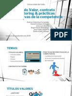 Titulos valores, contrato de factoring, practicas restrictivas del mercado