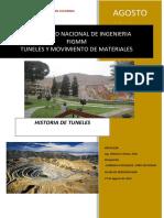Historia de Los Tuneles en Colombia