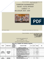 Bplanificari Calendaristice Clasele i IV 20192020