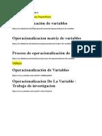 Links Operatividad de Las Variables