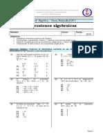 Matematica NB8 - Algebra - Expresion - Guia Remedial N°1