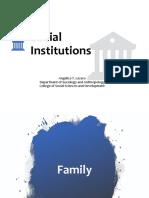 Family Social Institutions
