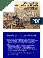 ORIGENES NOMBRE ALBAYDA