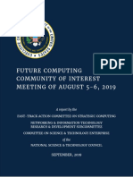 Future Computing Community of Interest Meeting of August 5-6, 2019