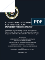 FY2020 Federal Cybersecurity R&D Strategic Plan Implementation Roadmap