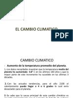 EL ca mbio climatico