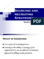 Session 9 &10 Sourcing Recruiting Strategies