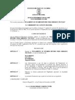 Reglamento de Regimen Interno Para Unidades Tacticas Manual