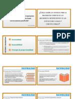 Criterios para valoración de las sentencias y disposiciones legales