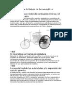 El Comienzo de La Historia de Los Neumáticos