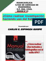 SESION N° 02 - COMO REALIZAR INVESTIGACIONES EN EL ESTILO APA