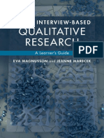 Doing interview based qualitative research