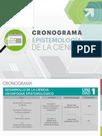 CRONOGRAMA EPISTEMOLOGÍA