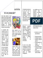 Es necesario el uso de las TICs en Preescolar