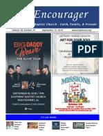 Encourager - September 15, 2019