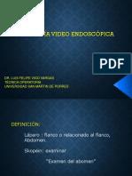 Clase 7 - Cirugía Video Endoscópica