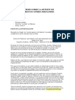 Informe Sobre La Muerte de Florencio Gómez Fernández