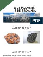 Tipos de roca en zona de escalada