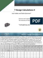 MOSFET Design Calcuations 2