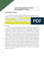 Détection Cations Polluants Fluoroionophores