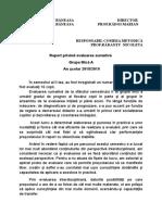 Raport Evaluare Finala Grupa Mica Ionela 2019