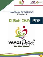 Final Programa de Gobierno El Peñol 2020-2023