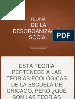 Teoría de La Desorganización Social