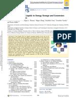 Ionic liquid energy materials