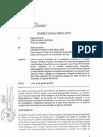 Informe que recomienda investigar al fiscal Pérezz y el juez Concepción Carhuancho