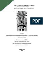 Enfoque de La Lecto Escritura en El Currículo Nacional y El Programa Curricular de Educación Inicial FIN (1)