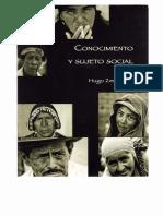 Conocimiento y Sujetos Sociales - Hugo Zemelman (Bolivia)