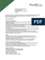 Job Description Boardroom- BD Manager