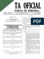 Gaceta 4103 Normas Sanitarias Para El Proyecto, Construcción, Ampliación, Reforma y Mantenimiento de Las Instalaciones Sanitarias Para Desarrollos Urbanisticos