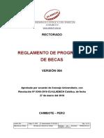 REGLAMENTO DE PROGRAMA DE BECAS
