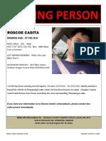 Roscoe Casita Missing Person