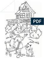 Dibujo de Escuela Para Pintar