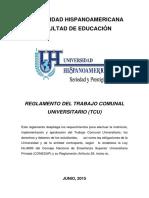 Reglamento y Lineamientos TCU, UH