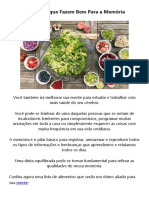 Alimentos Que Fazem Bem Para a Memória - PDF