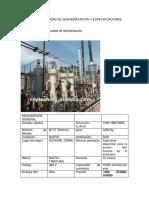 Costos de Unidad de Deshidrataicion y Especificaciones