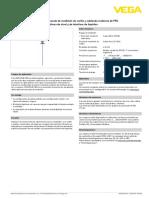 Hoja de Datos VEGAFLEX 83-4-20 MA HART Dos Hilos Con Aislamiente de PFA