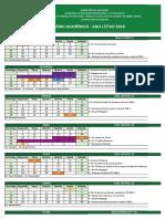 Calendário 2018 - Cursos Técnicos Integrados Presenciais