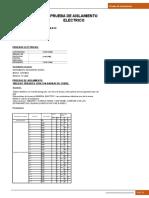 Certificado de Aislamiento Electrico