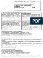 Prova 2trim Portugues 3A Relatorio Carta de Apresentação Pronome Crase