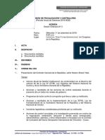 Agenda de la Comisión de Fiscalización - 11 de septiembre 2019