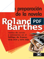 La Preparacion de La Novela Roland Barthes 1 (1)